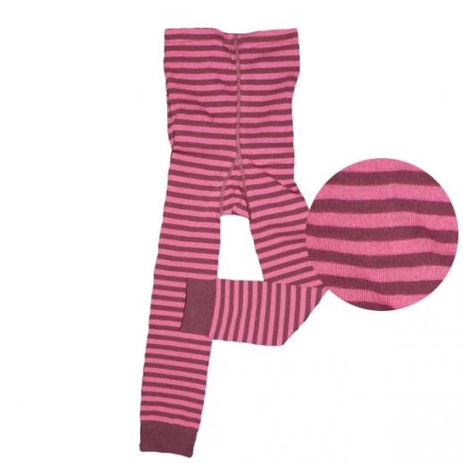 Grödo Kinderleggin Strumpfhose kbA BW Ringel beere pink GOTS