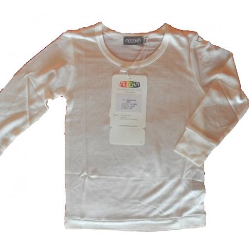 ALKENA Kinder Shirt Langarm Organic Seide - BIO SEIDE - auch bei Neurodermitis - hauchzart auf der Haut