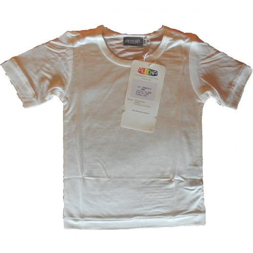 ALKENA Kinder Shirt Kurzarm Organic Seide - BIO SEIDE - hauchzart auf der Haut - NEURODERMITIS