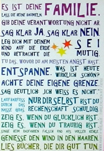 Poster von Julia Dibbern: Es ist Deine Familie... SOFORT LIEFERBAR!