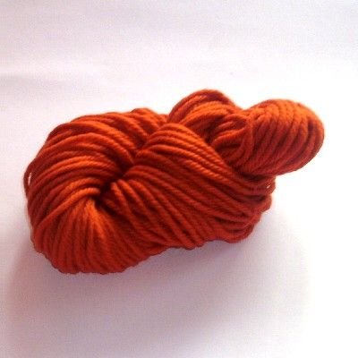 Schurwoll - Strickgarn - Orange - dick