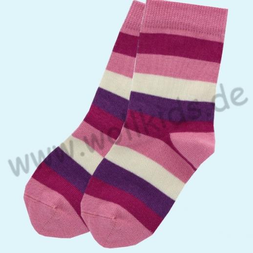 GRÖDO Natur Süße Kinder Socken Ringel kbA Baumwolle pink Ringel