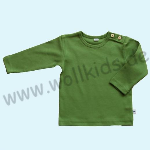 BIO BAUMWOLLE Leela Cotton Langarm T-Shirts kbA BW Uni Langarm Shirt BASIC grün