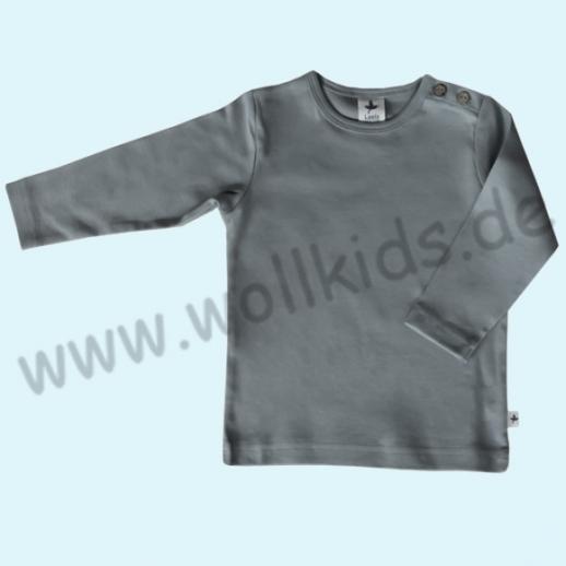BIO BAUMWOLLE Leela Cotton Langarm T-Shirts kbA BW Uni Langarm Shirt BASIC hellgrau steingrau