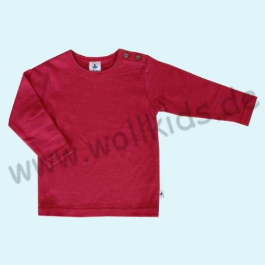 BIO BAUMWOLLE Leela Cotton Langarm T-Shirts kbA BW Uni Langarm Shirt BASIC himbeerrot