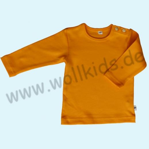 BIO BAUMWOLLE Leela Cotton Langarm T-Shirts kbA BW Uni Langarm Shirt BASIC sonnengelb