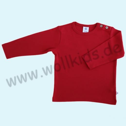 BIO BAUMWOLLE Leela Cotton Langarm T-Shirts kbA BW Uni Langarm Shirt BASIC ziegelrot