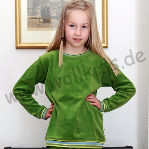 LEELA COTTON: BIO Baumwolle Pullover Nicky Pulli Shirt Sweatshirt grün