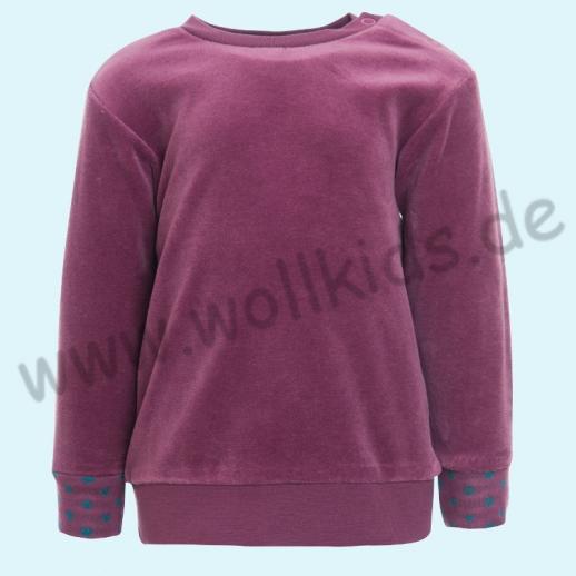 LEELA COTTON: BIO Baumwolle Pullover Nicky Pulli Shirt Sweatshirt malve NEU