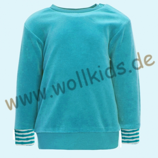 LEELA COTTON: BIO Baumwolle Pullover Nicky Pulli Shirt Sweatshirt türkis NEU