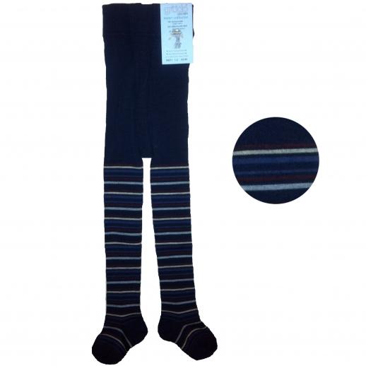 Kinderstrumpfhose Ringel Wolle/kbA BW marrine Ringel