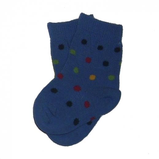Süße Babysocke blau Punkte kbA BW