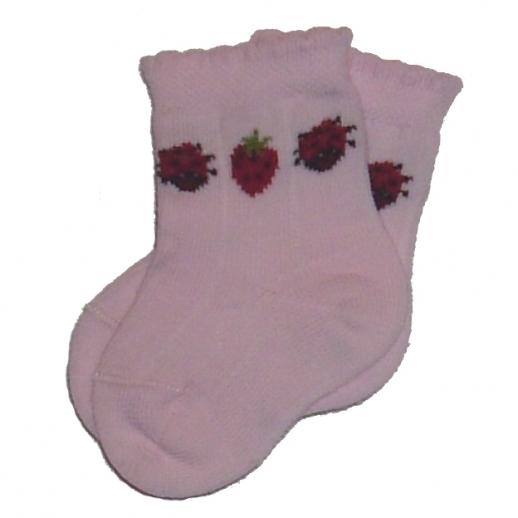 Süße Babysocke Erdbeere kbA BW