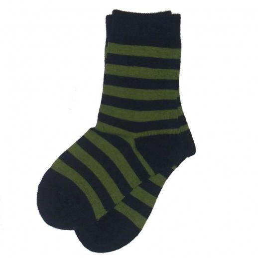 Süße Kinder-Socken Ringel kbA BW blau / grün