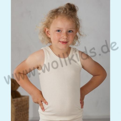 Cosilana Kinder Trägerhemd Hemd ohne Arm Wolle Seide