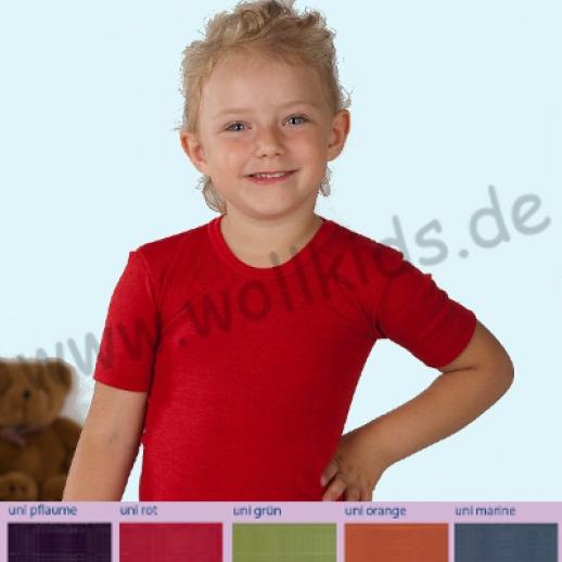 Cosilana Hemdchen KA Wolle Seide 5 Farben BIO Kurzarmhemd Unterhemd