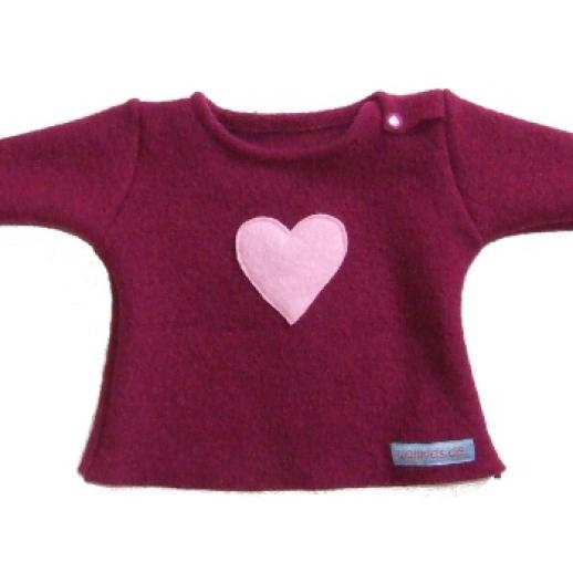 Zuckersüß: Walk-Pulli Herz Baby & Kind