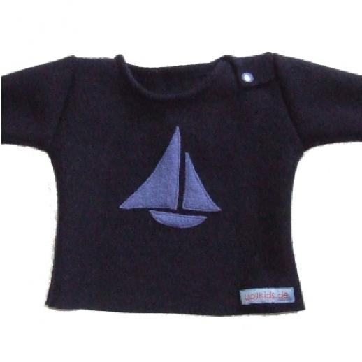 Öko Wollwalk Pullover Segelboot