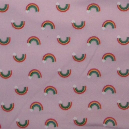Regenbogen Interlock rosa Rainbow