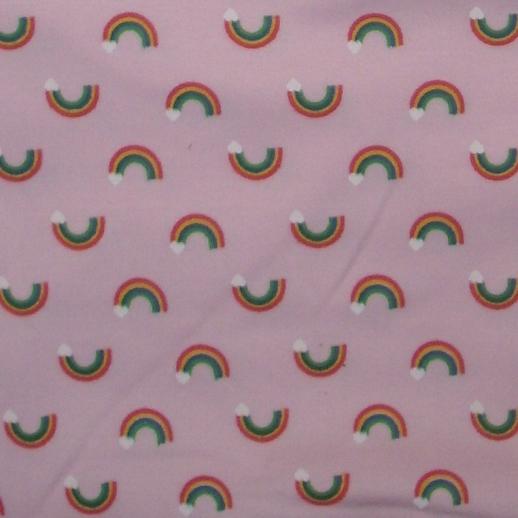 Regenbogen Interlock rosa Rainbow