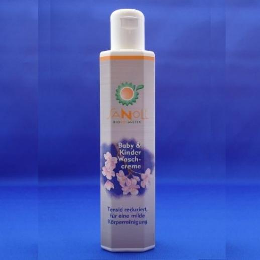 Sanoll BIO Kinder & Baby-Waschcreme Duschgel & Shampoo - BIO Kosmetik