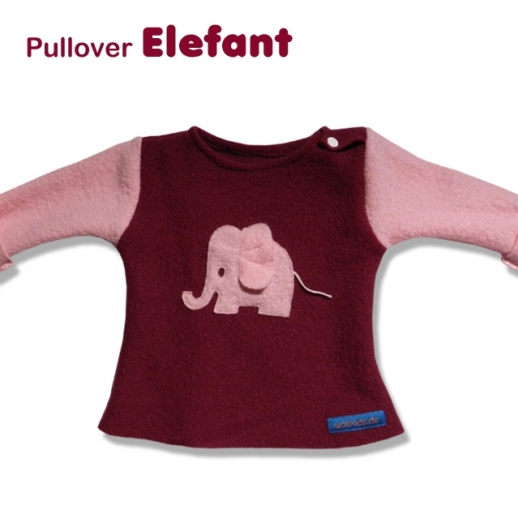 NEU: Walk-Pulli Elefant Wollwalk ÖKO