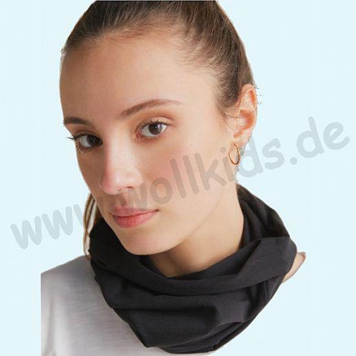 NEU: Schlauchschal - BUFF -  Loop - BIO Baumwolle - ORGANIC COTTON - Schal schwarz