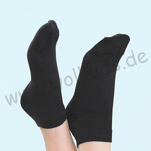 ALBERO - BIO Baumwolle - Damen- und Herren- Sneakerssocke anthrazit