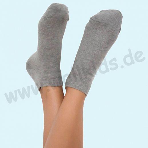ALBERO - BIO Baumwolle - Damen- und Herren- Sneakerssocke grau melange