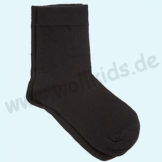 BIO Baumwolle - Damen- und Kindersocken schwarz Roots ORGANICs