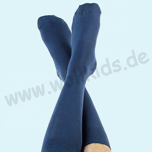 ALBERO - BIO Baumwolle - Damen- und Herrenstrümpfe marine