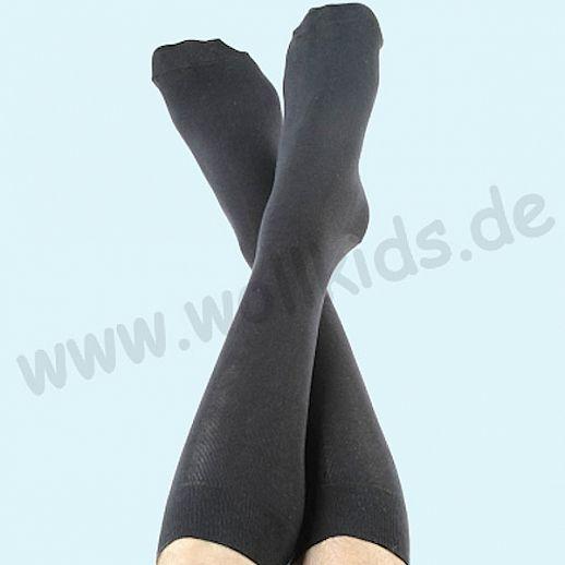 ALBERO - BIO Baumwolle - Damen- und Herrenstrümpfe schwarz