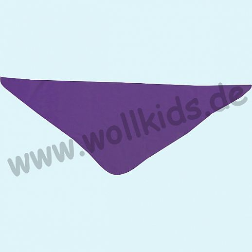 NEU: ALKENA Baby Halstuch Dreieckstuch Seidentuch - reine Bourette Seide - weich, zart zur Haut - pflaume, saphir