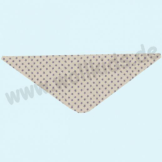 NEU: ALKENA Baby Halstuch Dreieckstuch Seidentuch - reine Bourette Seide - weich, zart zur Haut - Sterne lavendel