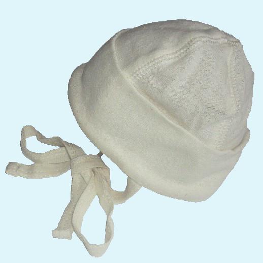 ALKENA Baby Mütze - reine Bourette Seide - weich, zart zur Haut - aqua rose natur