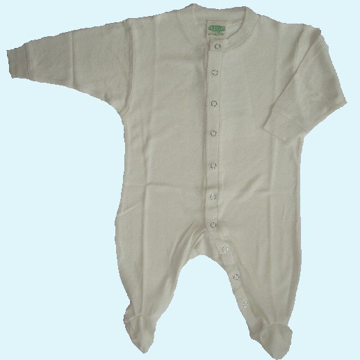 ALKENA Baby Strampler Schlafanzug Bourette Seide - wärmeregulierend - rosa, natur, aqua