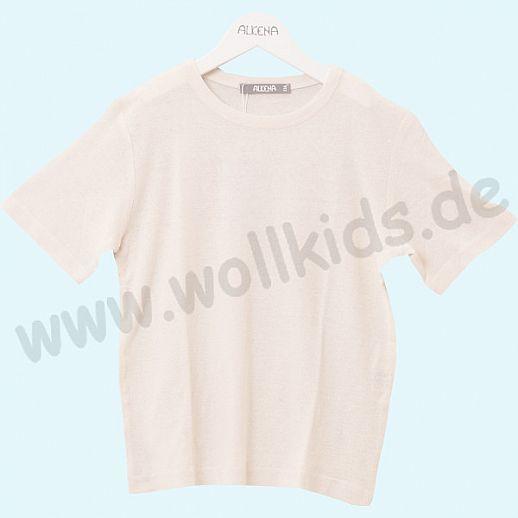 ALKENA Kurzärmliges Kinder-Shirt, auch als Schlafi, Bourette Seide natur