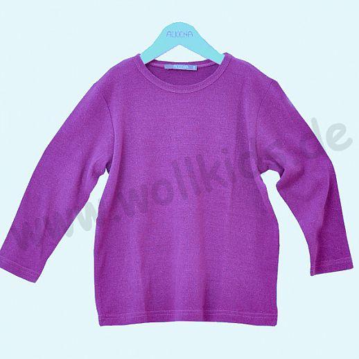 ALKENA Langärmliges Kinder-Shirt, auch als Schlafi, Bourette Seide beere
