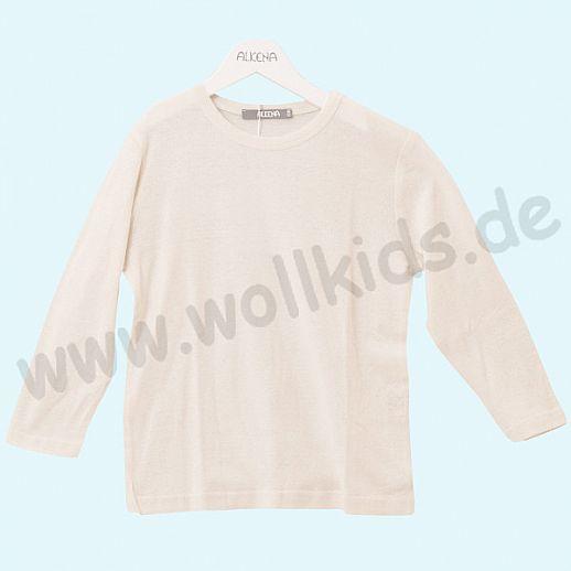 ALKENA Langärmliges Kinder-Shirt, auch als Schlafi, Bourette Seide natur