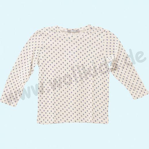 ALKENA Langärmliges Kinder-Shirt, auch als Schlafi, Bourette Seide natur Sterne
