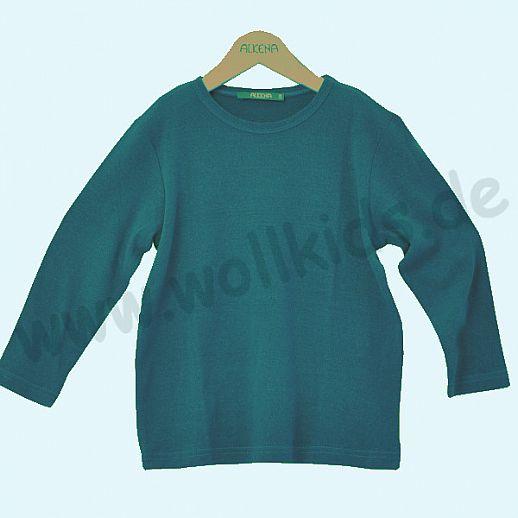 ALKENA Langärmliges Kinder-Shirt, auch als Schlafi, Bourette Seide saphir