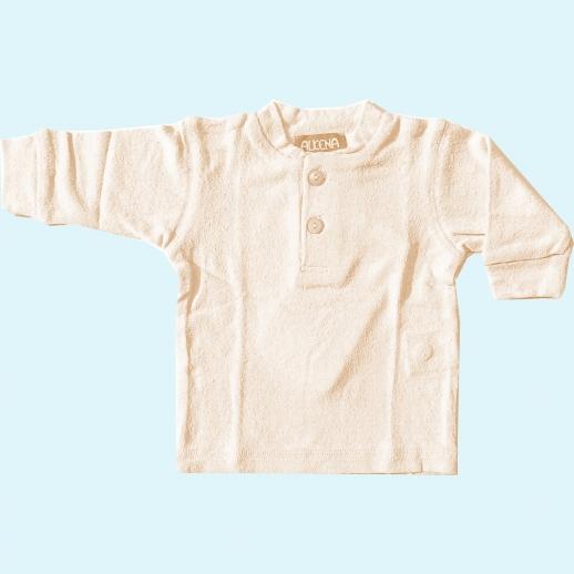 ALKENA Knopfshirt in 3 Farben Langarm Bourette Seide - Pulli Shirt - sensible Haut - Neurodermitis