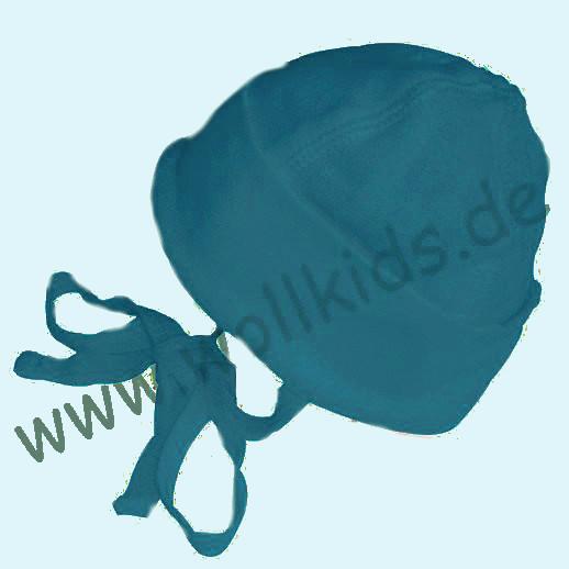ALKENA Baby Mütze - reine Bourette Seide - weich, zart zur Haut - saphir, pflaume