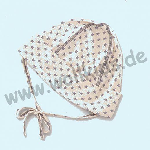 ALKENA Baby Mütze - reine Bourette Seide - weich, zart zur Haut - Sterne