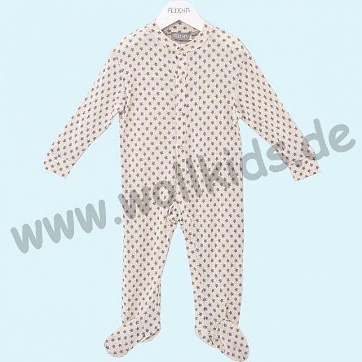 ALKENA Baby Strampler Schlafanzug Bourette Seide - wärmeregulierend - Sterne
