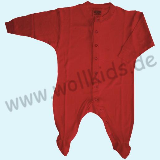 ALKENA Strampler Schlafanzug Bourette Seide - kirschrot, grau empfindliche Haut