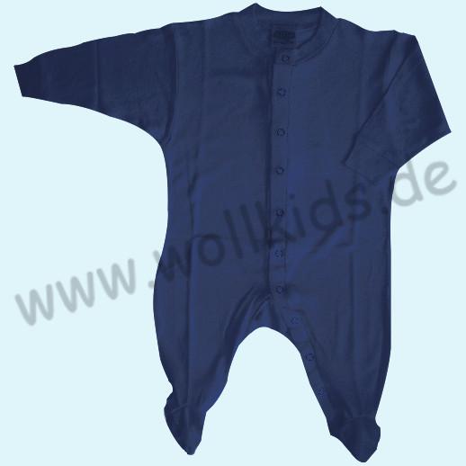 ALKENA Strampler Schlafanzug navy, beere, violett, aprikot - Bourette Seide