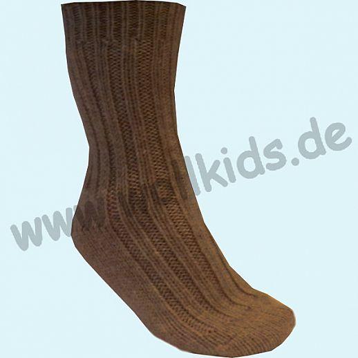 NEU: Richtig dicke Schafwoll - Alpaka Socken dunkelbraun - endlich warme Füße