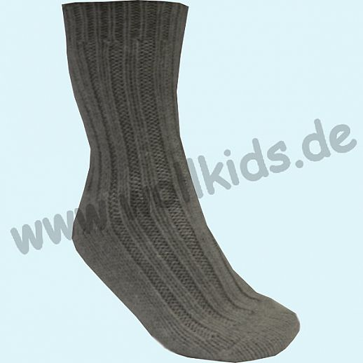 NEU: Richtig dicke Schafwoll - Alpaka Socken dunkelgrau - endlich warme Füße