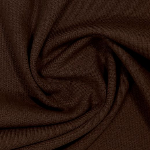 Wundervoller Baumwoll - Bündchen Stoff uni schoko - griffig & weich zugleich